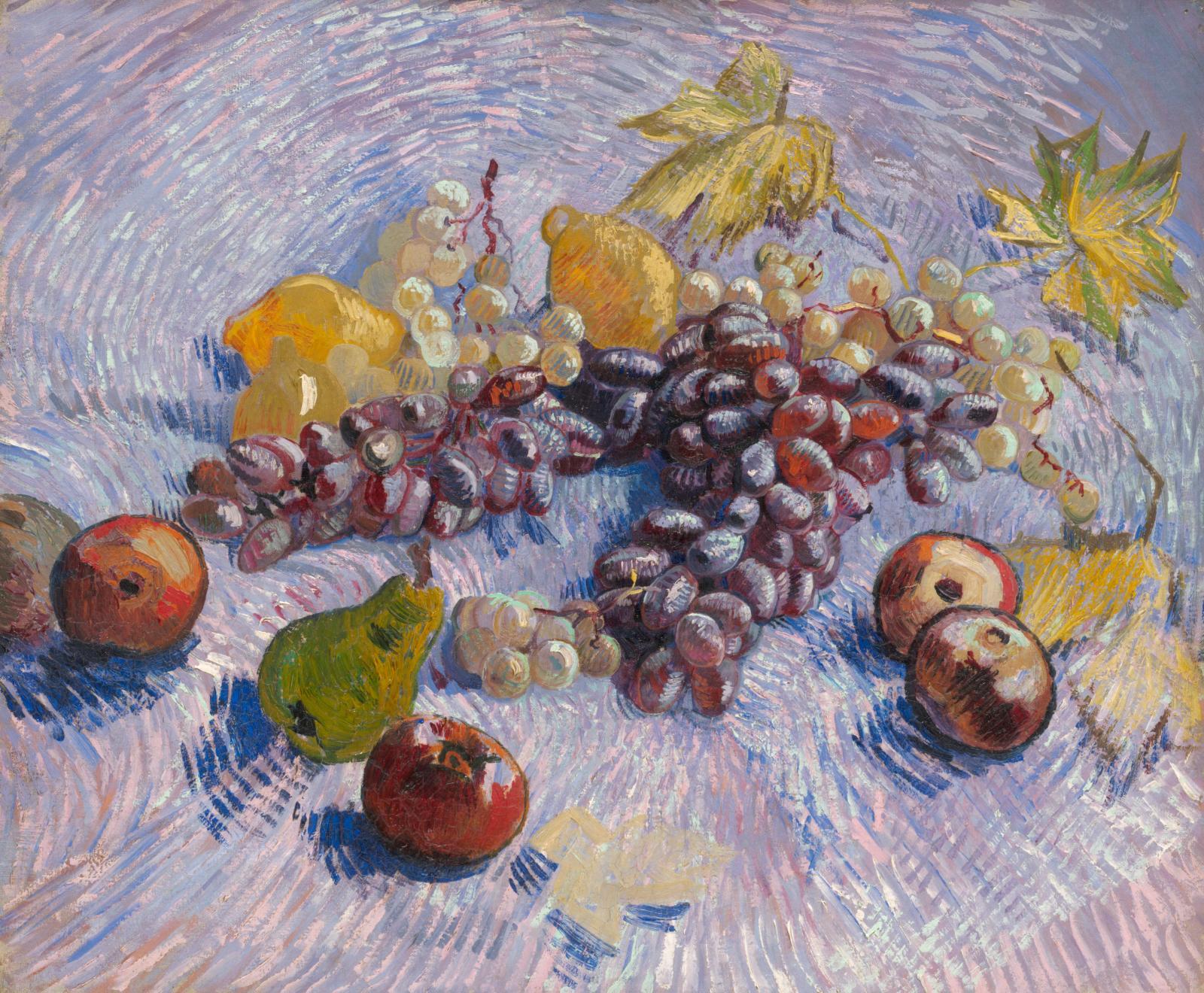 Vincent Van Gogh (1853-1890), Pommes, poires, citron et raisin, 1887, huile sur toile, 46,5x55,2cm. The Art Institute, Chicago.