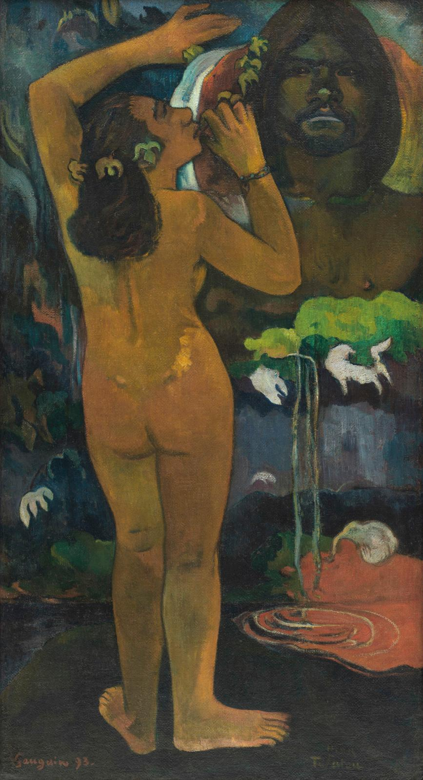 Paul Gauguin (1848-1903), Hina Tefatou, 1893, huile sur toile de jute, 114,3x62,2cm (détail en page de droite). Museum of Modern Art (MoMA), New Y