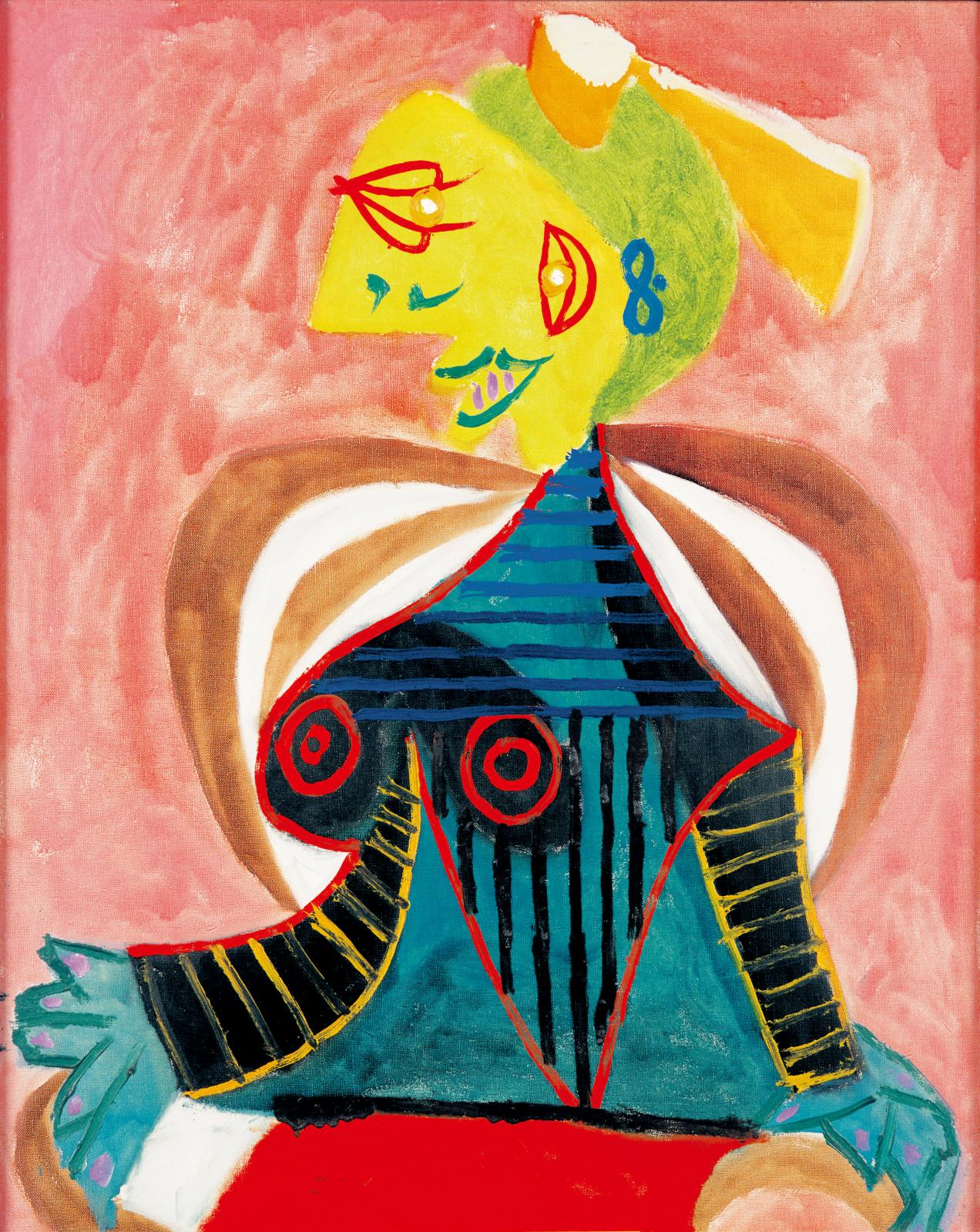 Pablo Picasso, Portrait of Lee Miller as an Arlésienne, 1937, oil on canvas, state repository at the Musée Réattu, 1990