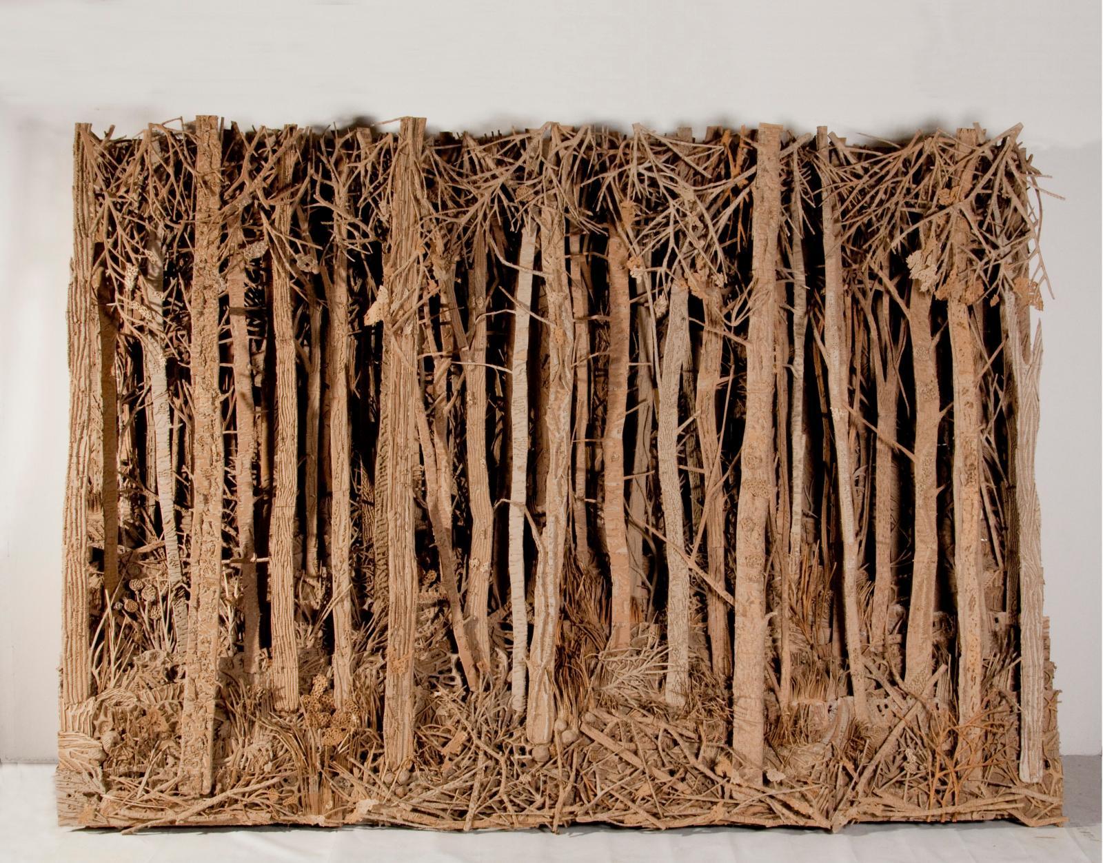Eva Jospin, Sans titre (la forêt), 2011, carton, bois et colle. © Eva Jospin courtesy Noirmontartproduction