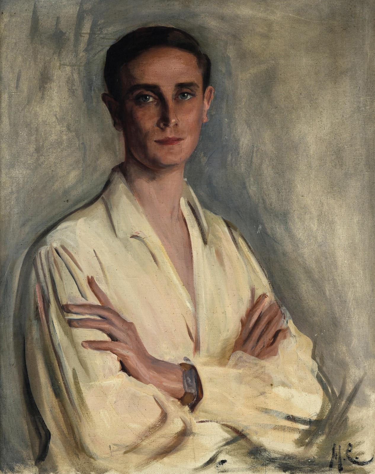 The handsome allure of Prince Felix Felixovich Yusupov (1887–1967) likely had something to do with the result of his portrait (80 x 63 cm/