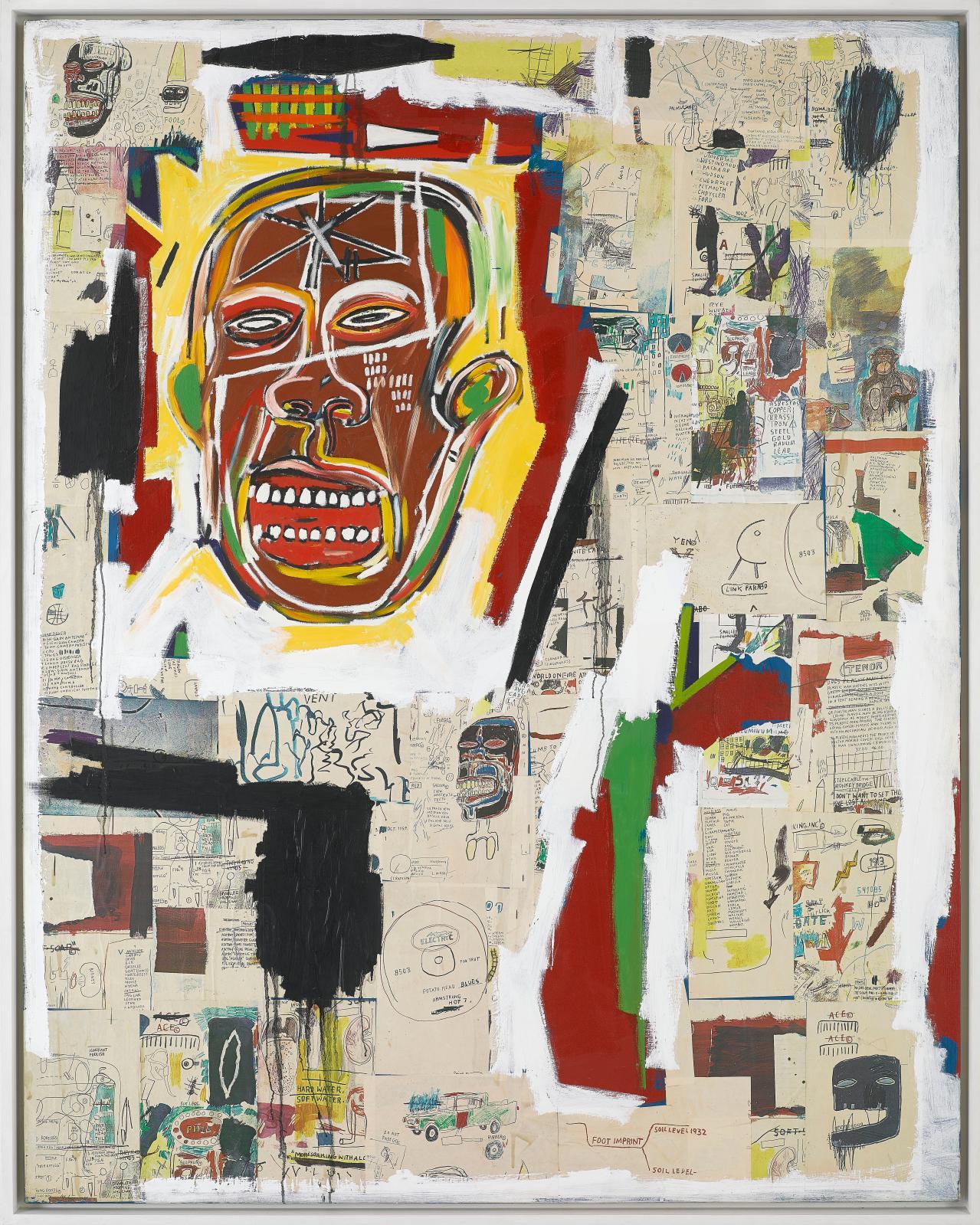 Jean-Michel Basquiat, King of the Zulus, 1984-1985, musée d'art contemporain de Marseille.© photo DR © service de presse eac © adagp pari