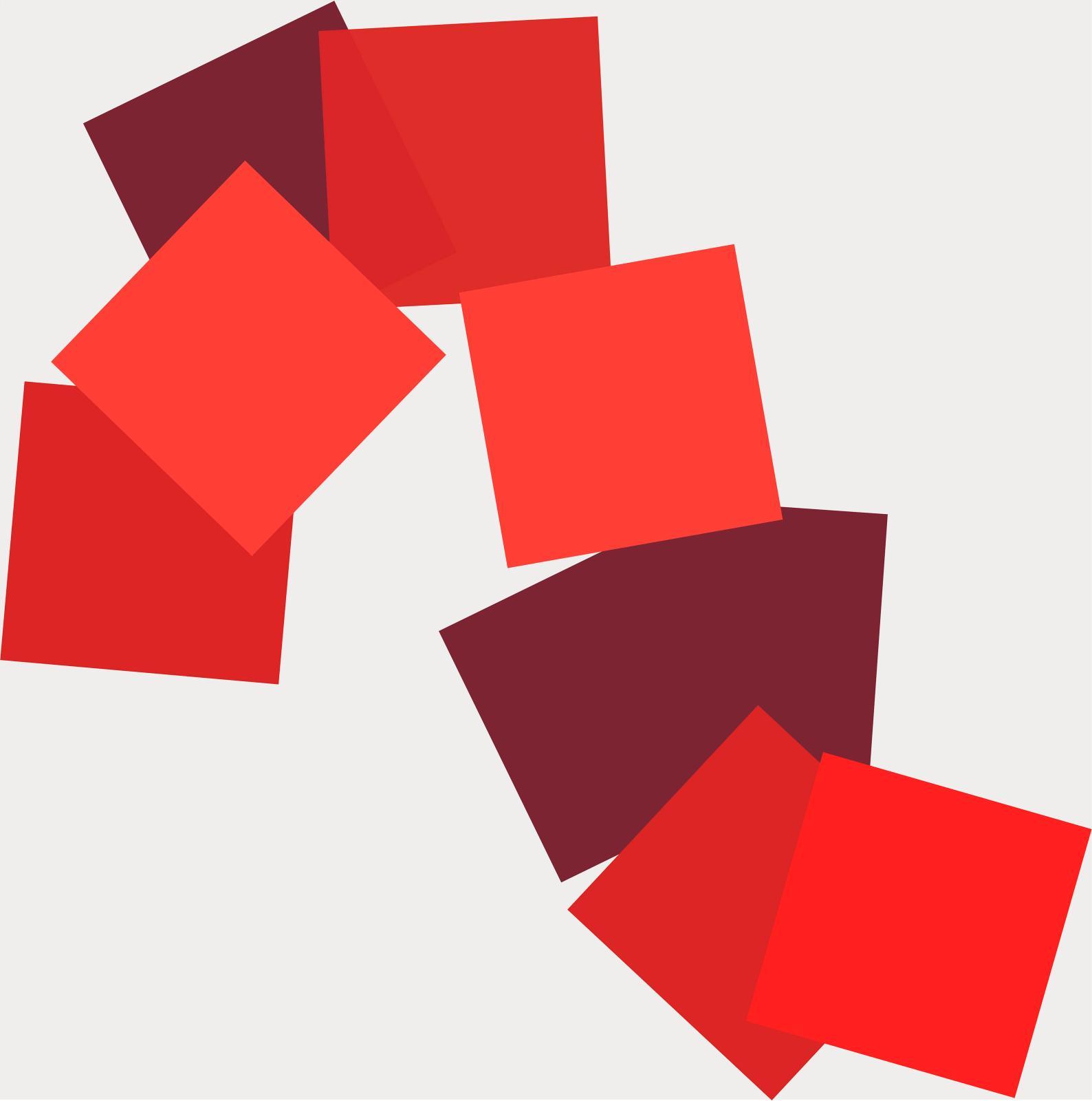 Vera Molnár, Sainte-Victoire en rouge, 2019, acrylique sur toile, 100 x 100 cm, collection européenne. © photo galerie oniris, rennes © ad