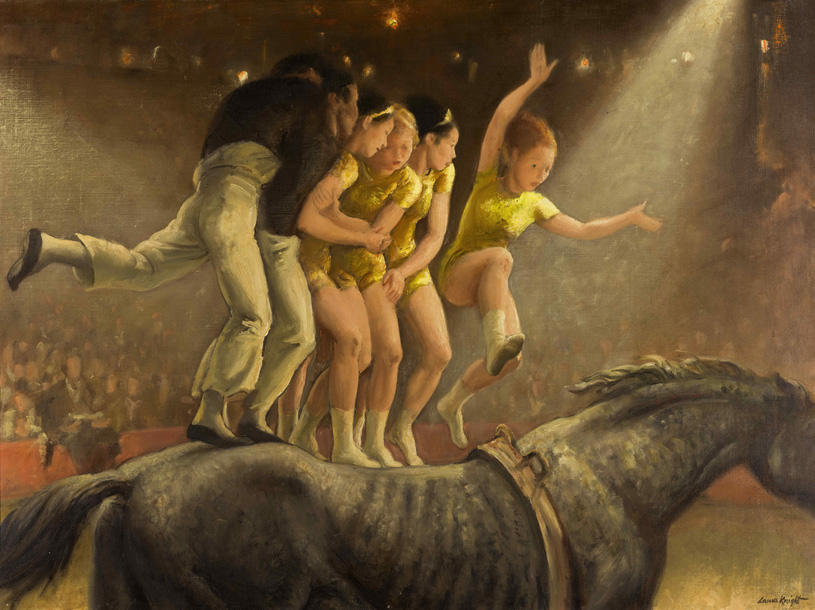 Laura Knight (1877–1970), Allez Oop! aka The Finishing Horse aka Bareback Riders, 1954, oil on canvas, private collection. © Reproduced wi