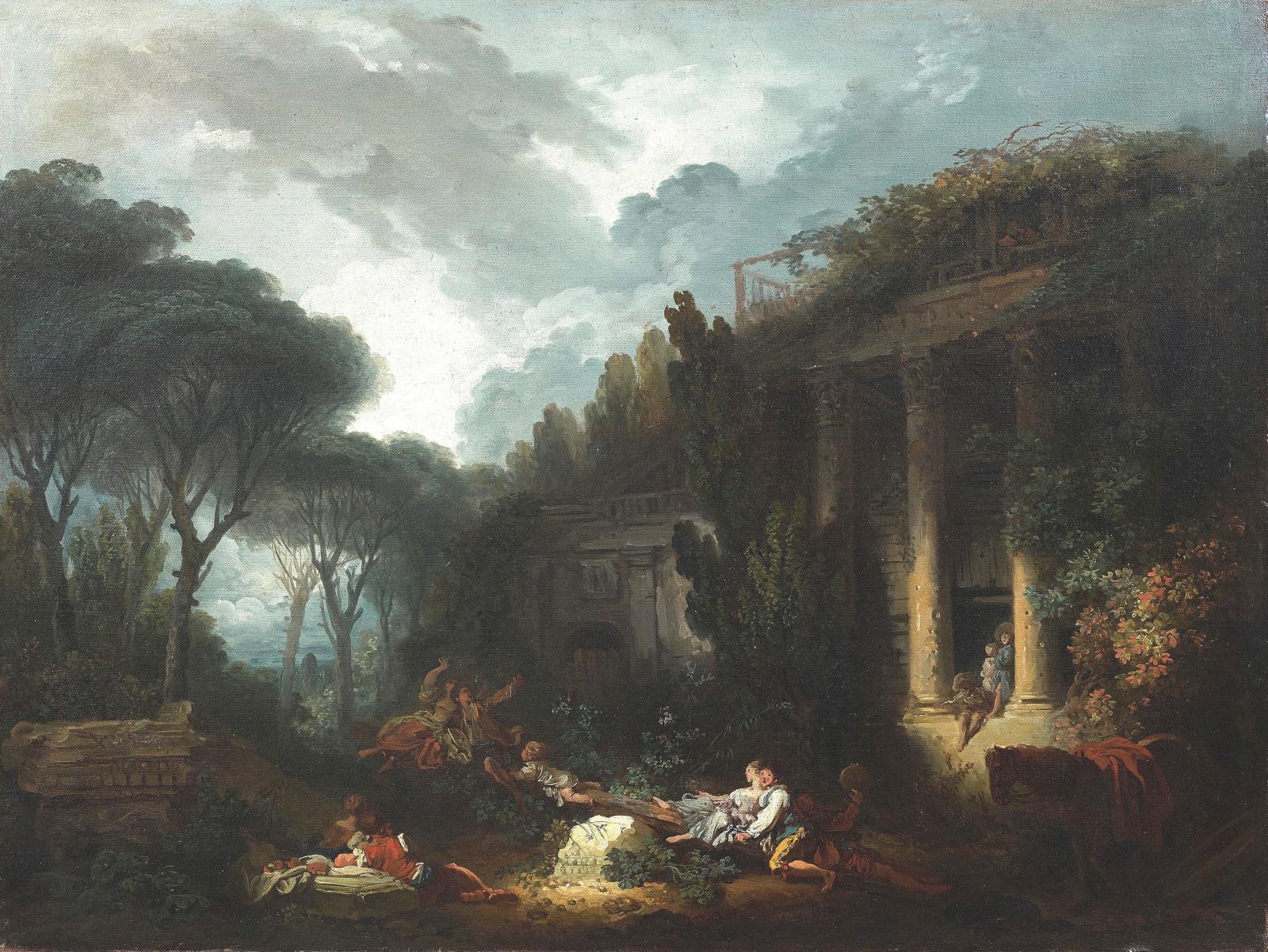 Jean-Honoré Fragonard (1732-1806), Le Jeu de la bascule, huile sur toile, 75x93cm. © Sebert
