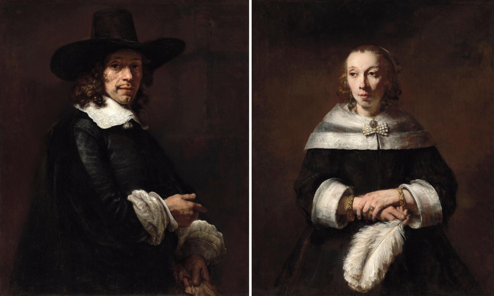 Rembrandt, Portraits d'un homme et de son épouse, vers 1656-1658, National Gallery de Washington. À l'origine dans les collections des pri