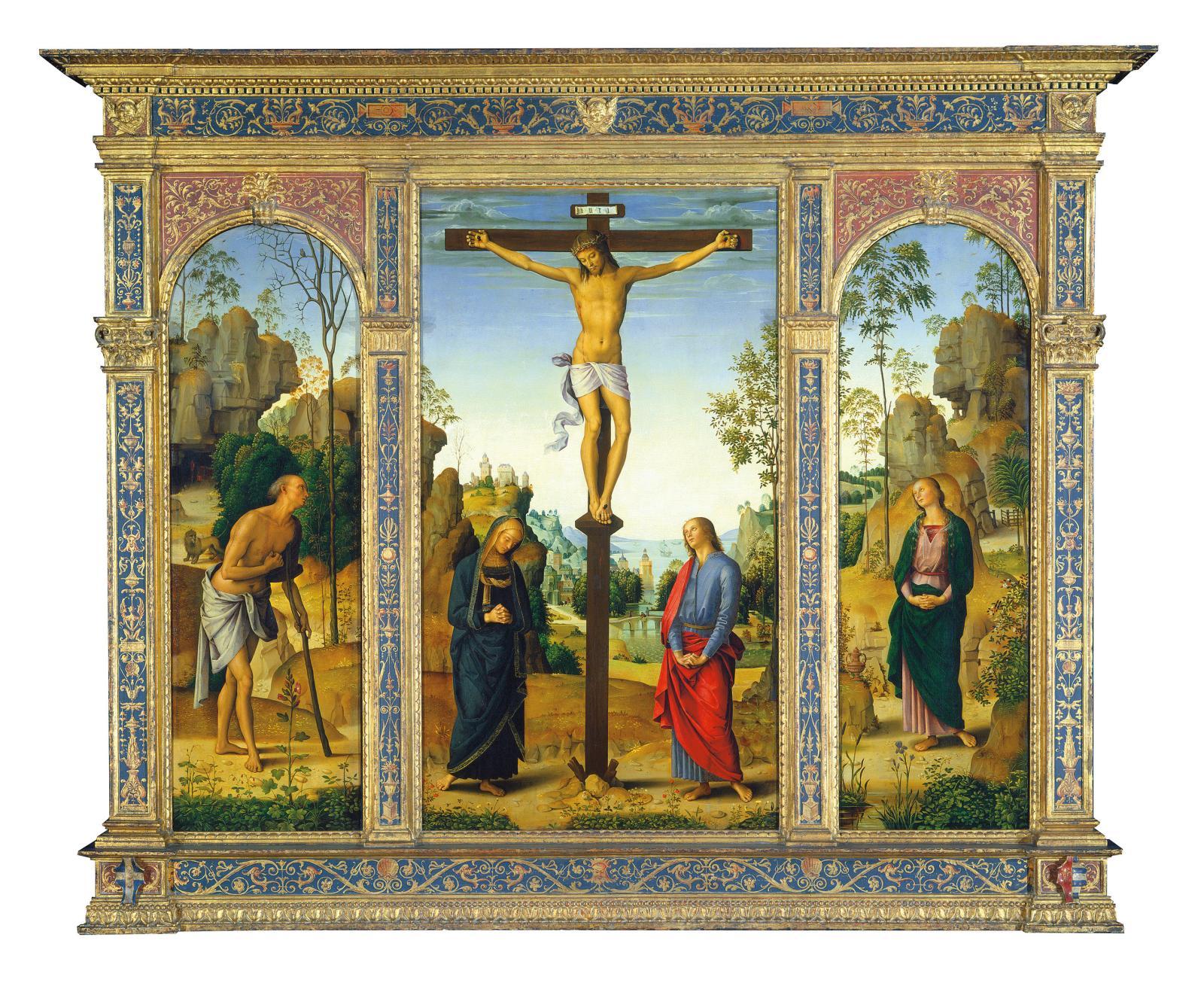 Le Pérugin, Triptyque de la Crucifixion, 1482-1485, National Gallery de Washington.L'une des familles aristocratiques russes s'étant le pl