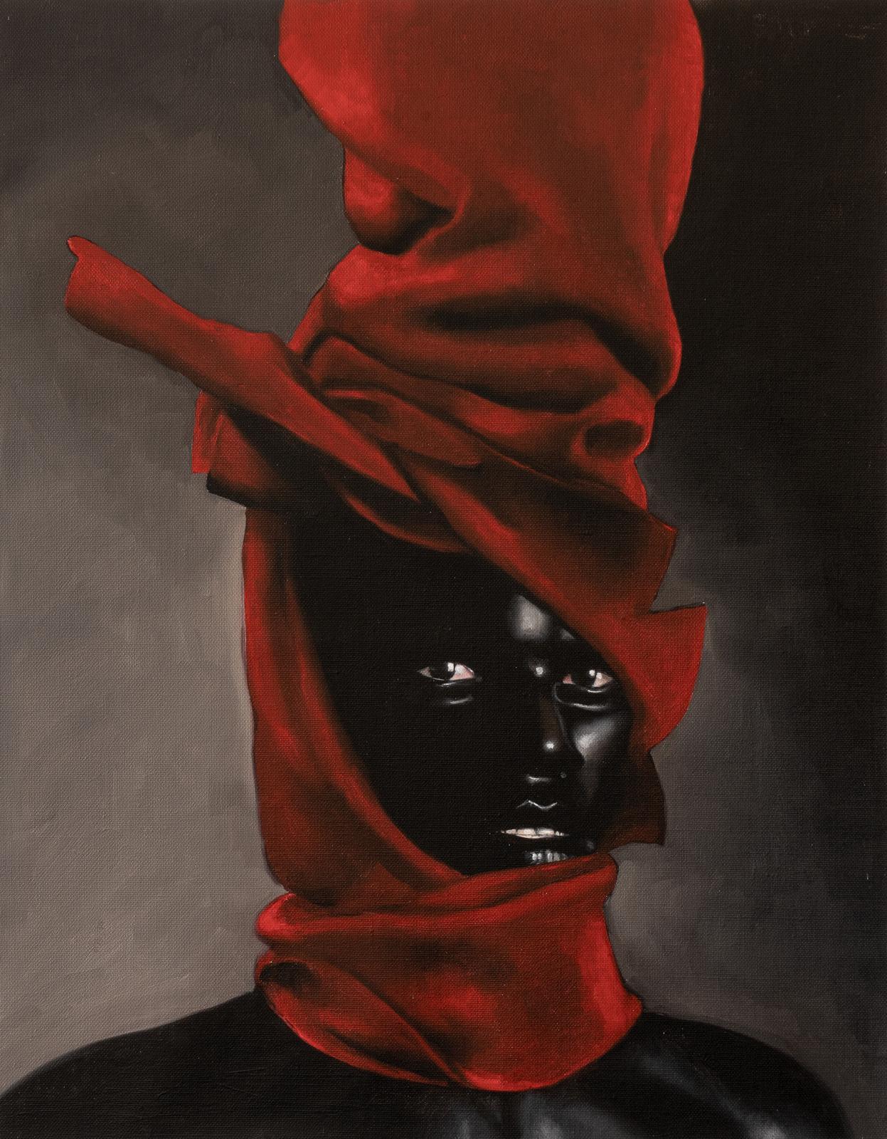 Gustavo Nazareno, Exu, 2021, oil on canvas, 72 x 58 cm/ 28.3 x 22.83 inch.© Gustavo Nazareno, Gallery 1957