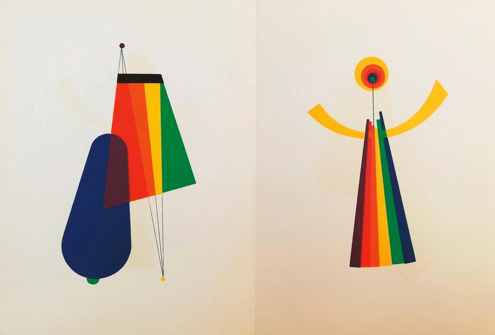 Man Ray (1890-1976), Pain peint, catalogue d'exposition, Galerie Alexandre Iolas, 1973, avec 10 compositions originales en couleurs, 2pho