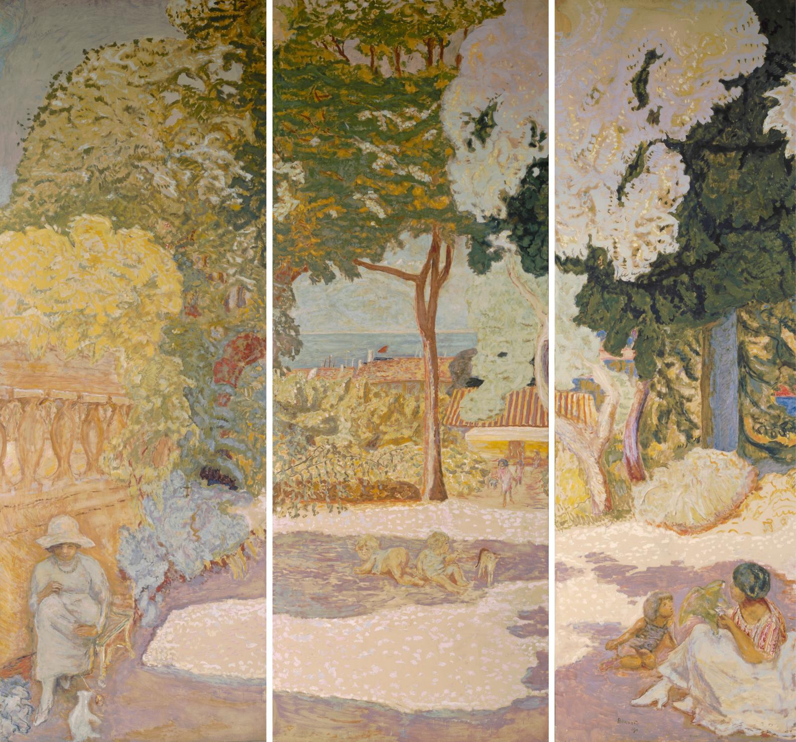 Pierre Bonnard(1867-1947), La Méditerranée, 1911, huile sur toile, 407x152cm chaque panneau, musée d'État de l'Ermitage, Saint-Pétersb