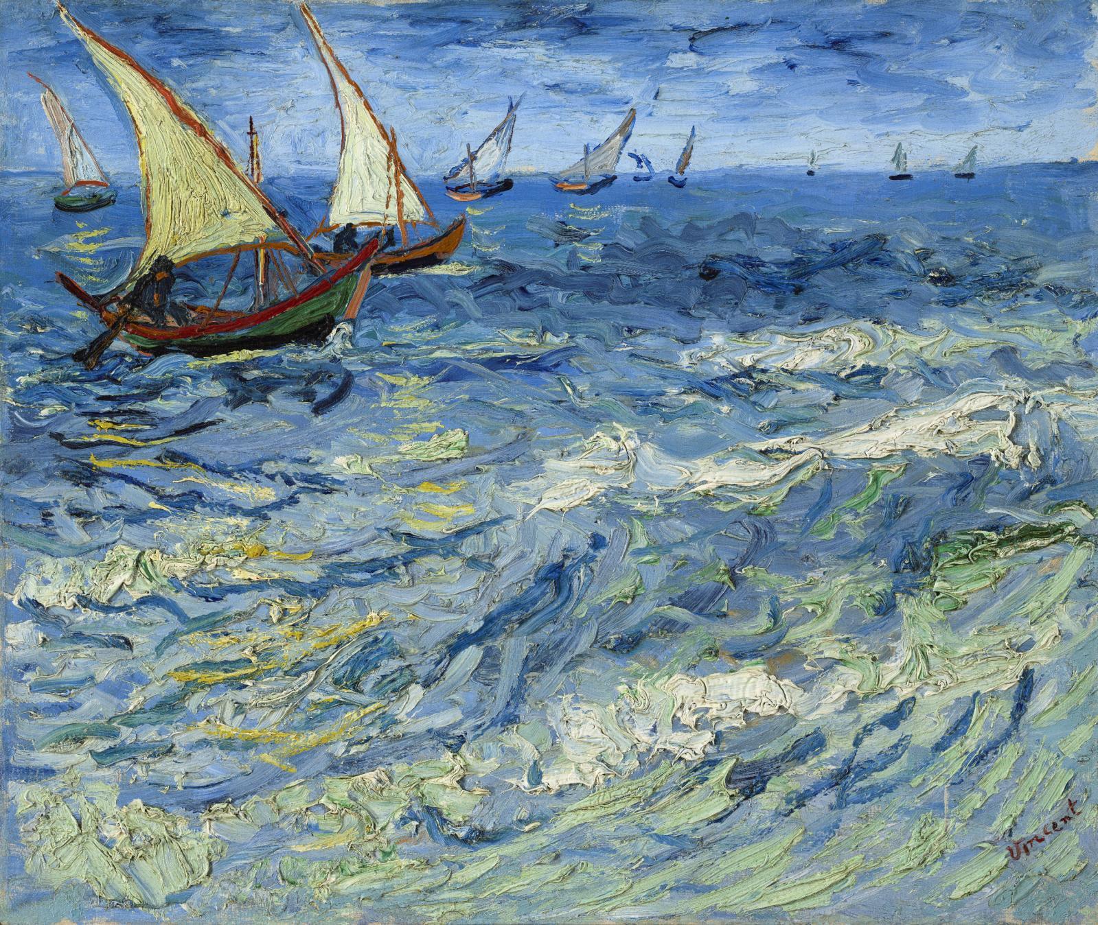 Vincent Van Gogh (1853-1890), La Mer aux Saintes-Maries, 1888, huile sur toile, 44,5x54,5cm, musée d'État des beaux-arts Pouchkine, Mos