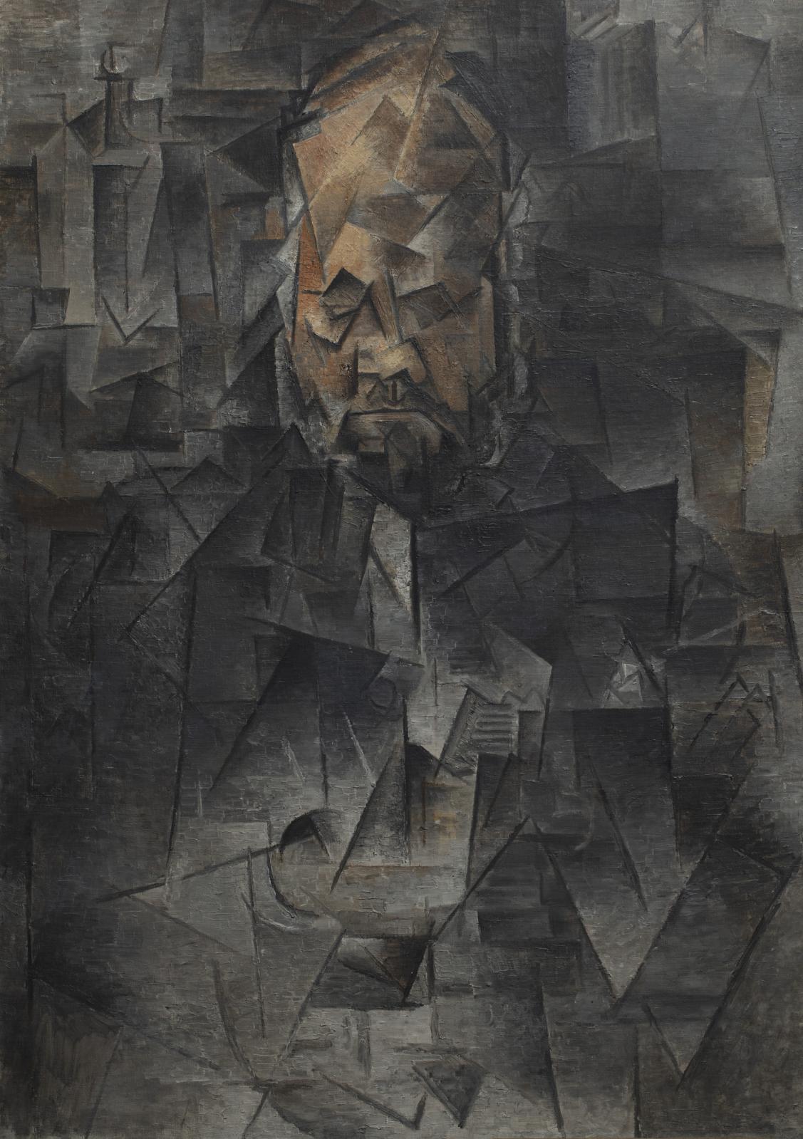 Pablo Picasso (1881-1973), Portrait d'Ambroise Vollard, 1910, huile sur toile, 93x66cm, musée d'État des beaux-arts Pouchkine, Moscou.