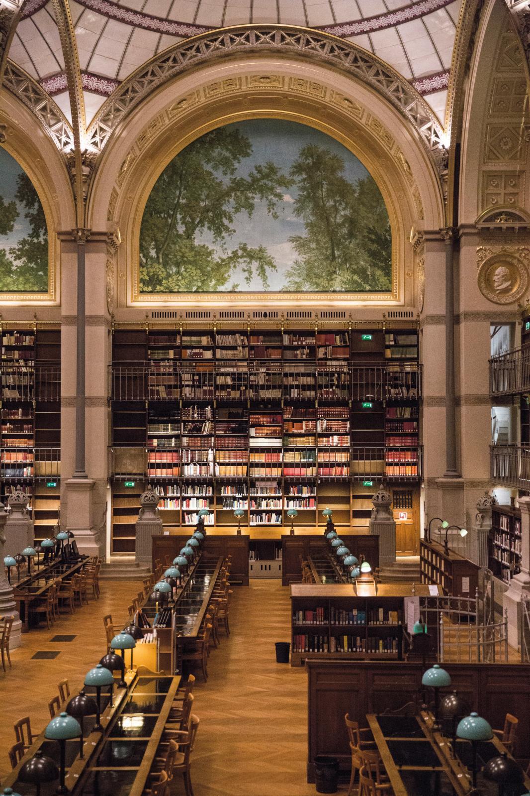 La bibliothèque de l'INHA salle Labrouste. ©Marc Riou, INHA