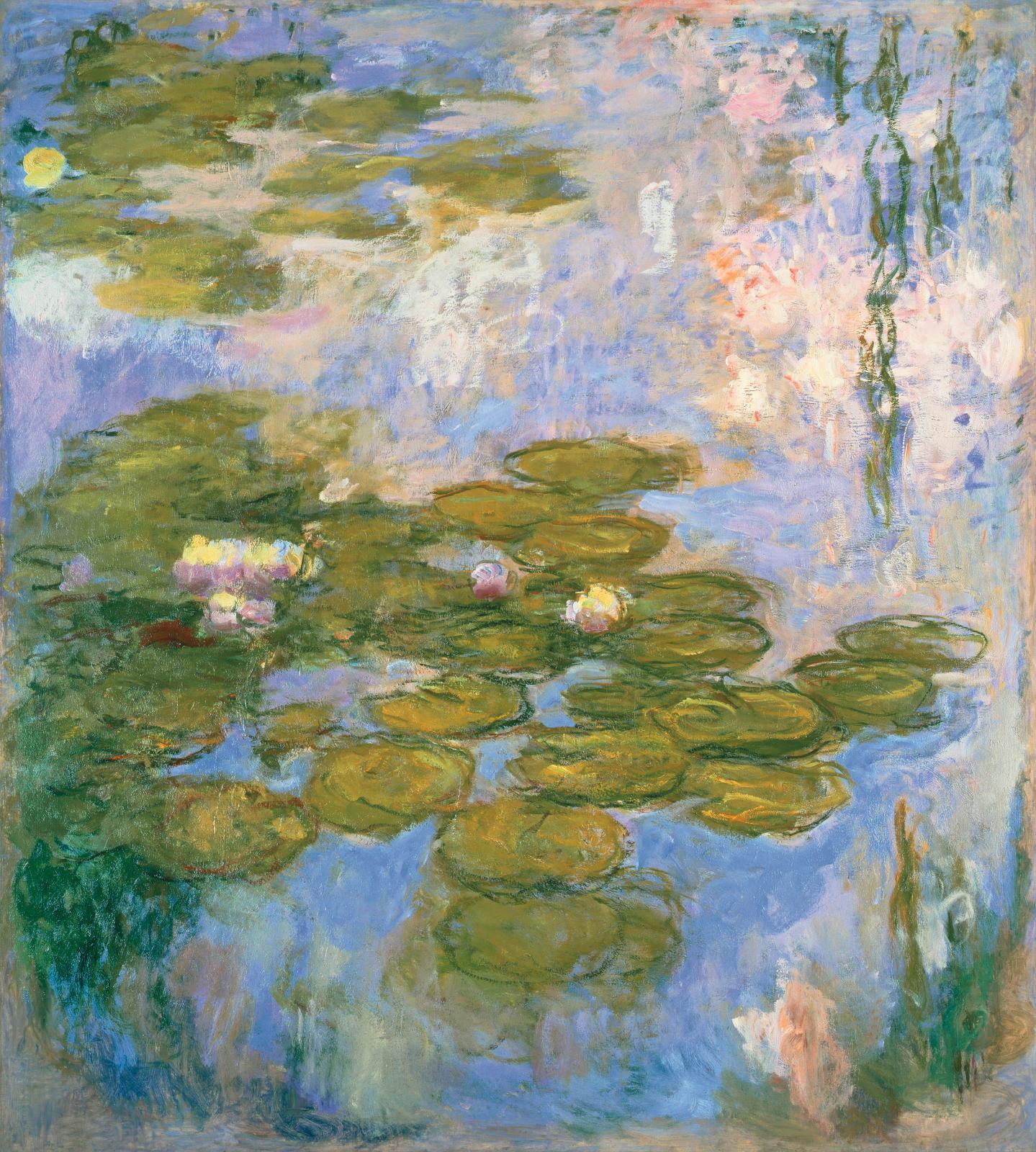 Claude Monet, Nymphéas, 1916-1919, huile sur toile, 200x180cm (détail), fondation Beyeler, Riehen/Bâle.© Peter Schibli