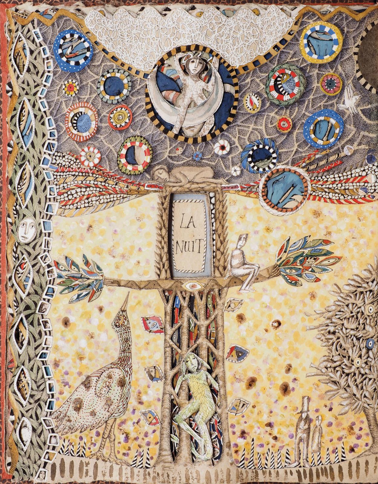 Diane de Bournazel (née en 1956), page of Scène ouverte, 2020 (detail).© Diane de Bournazel / Justin Croft, Royaume-Uni