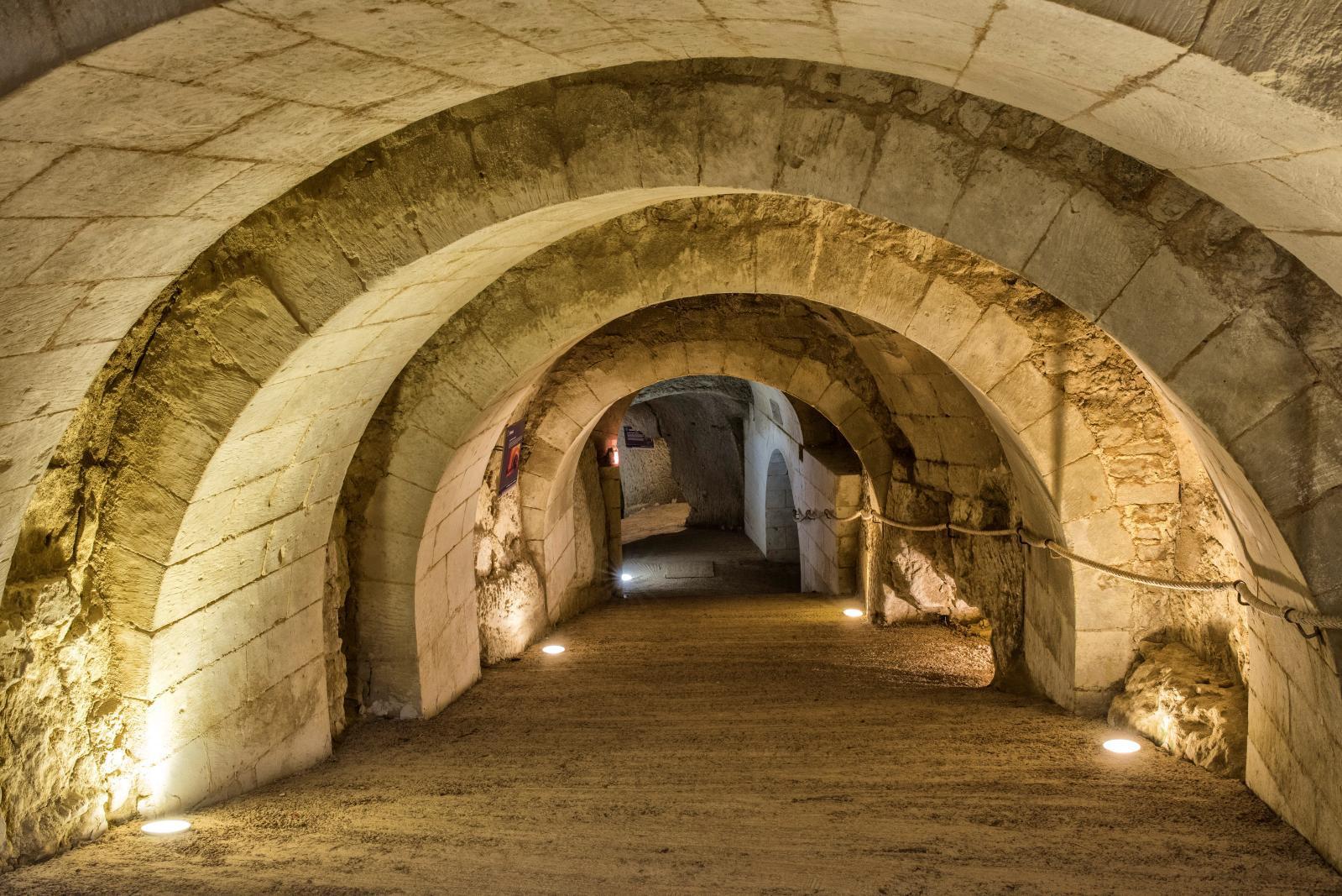 The château's troglodyte tunnels.© Château de Brézé