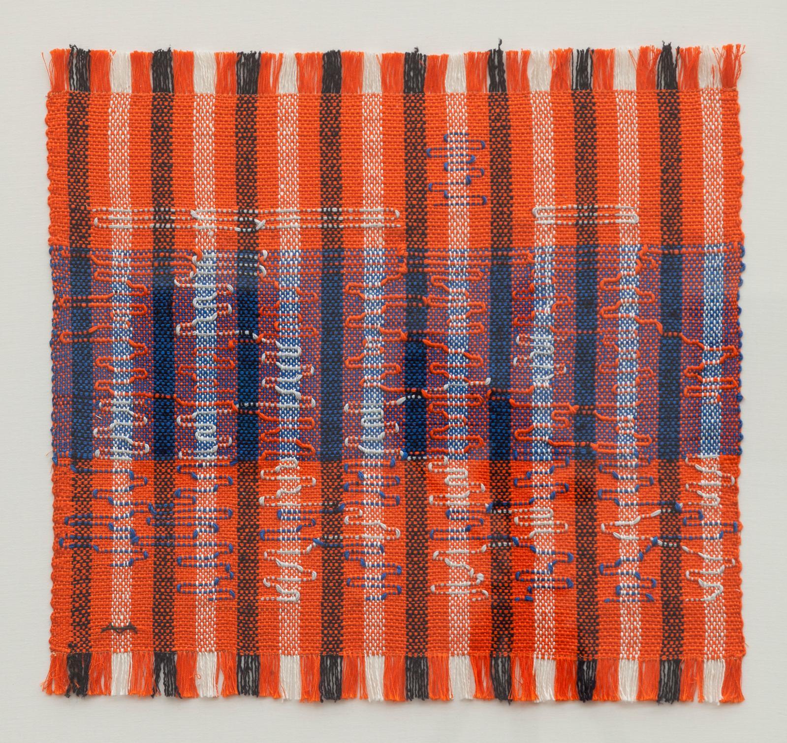 Anni Albers, Intersecting, 1962, coton et rayon, 40x42cm, détail, Josef Albers Museum Quadrat, Bottrop. © 2021 The Josef and Anni Alber