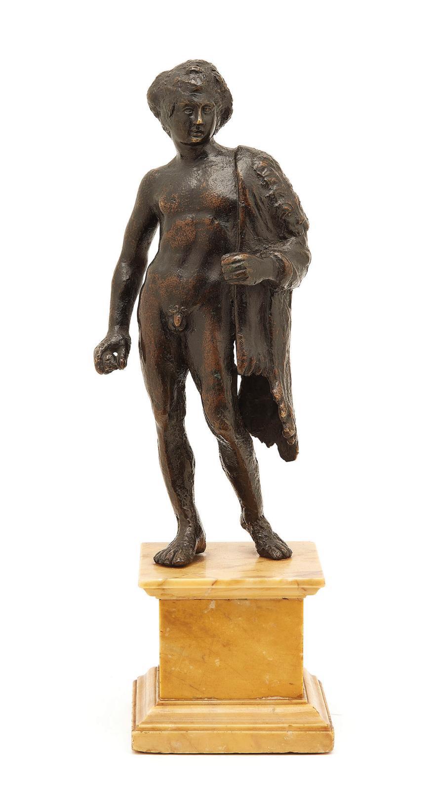 Florence, attribué à Bertoldo diGiovanni (vers 1435/40-1491), vers 1470/1480, Hercule, bronze à patine noire, h.23,5cm. Estimation: 6