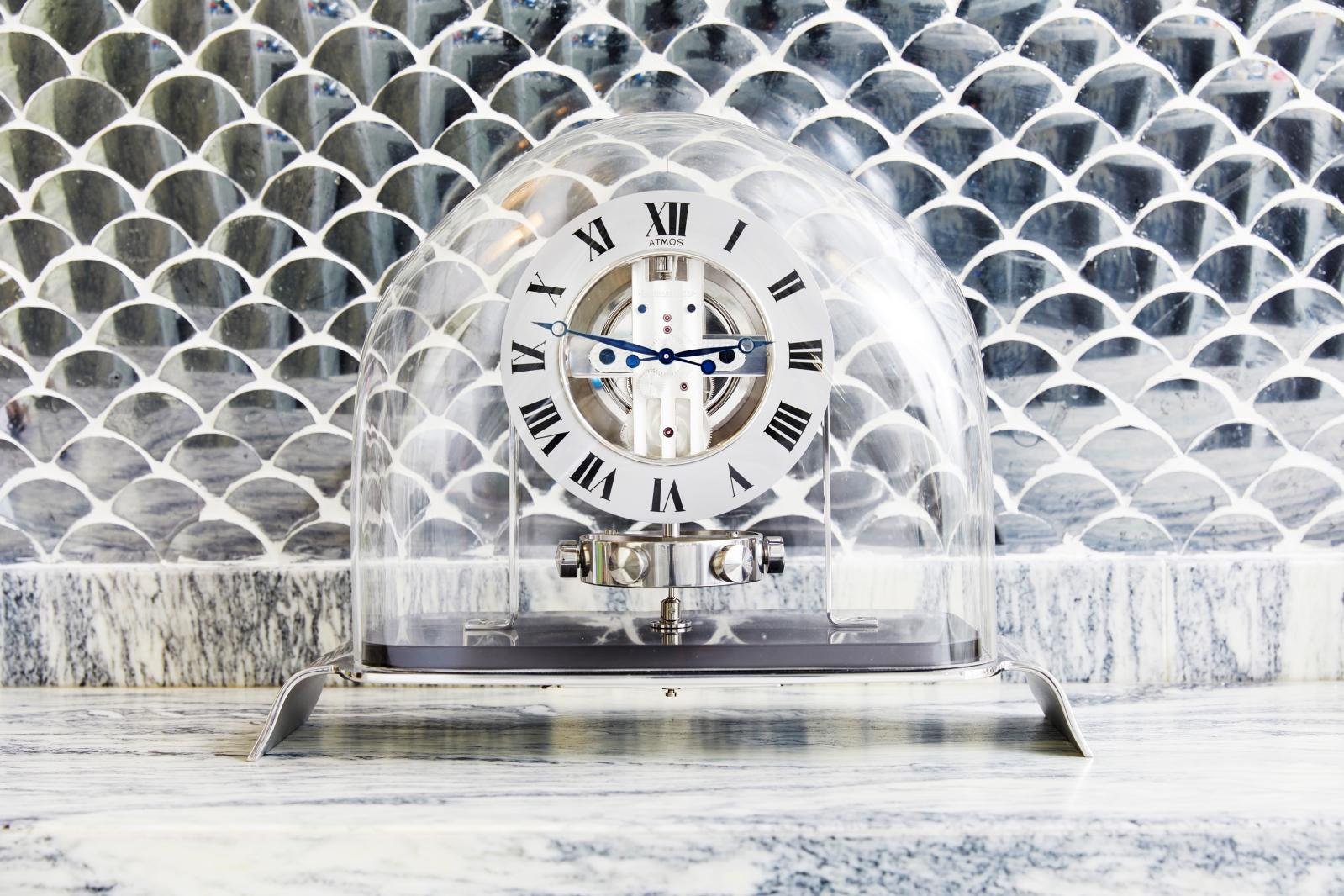 Made by Jaeger-LeCoultre in the 1930s, this Atmos clock is one of the many collector's items belonging to the designer
