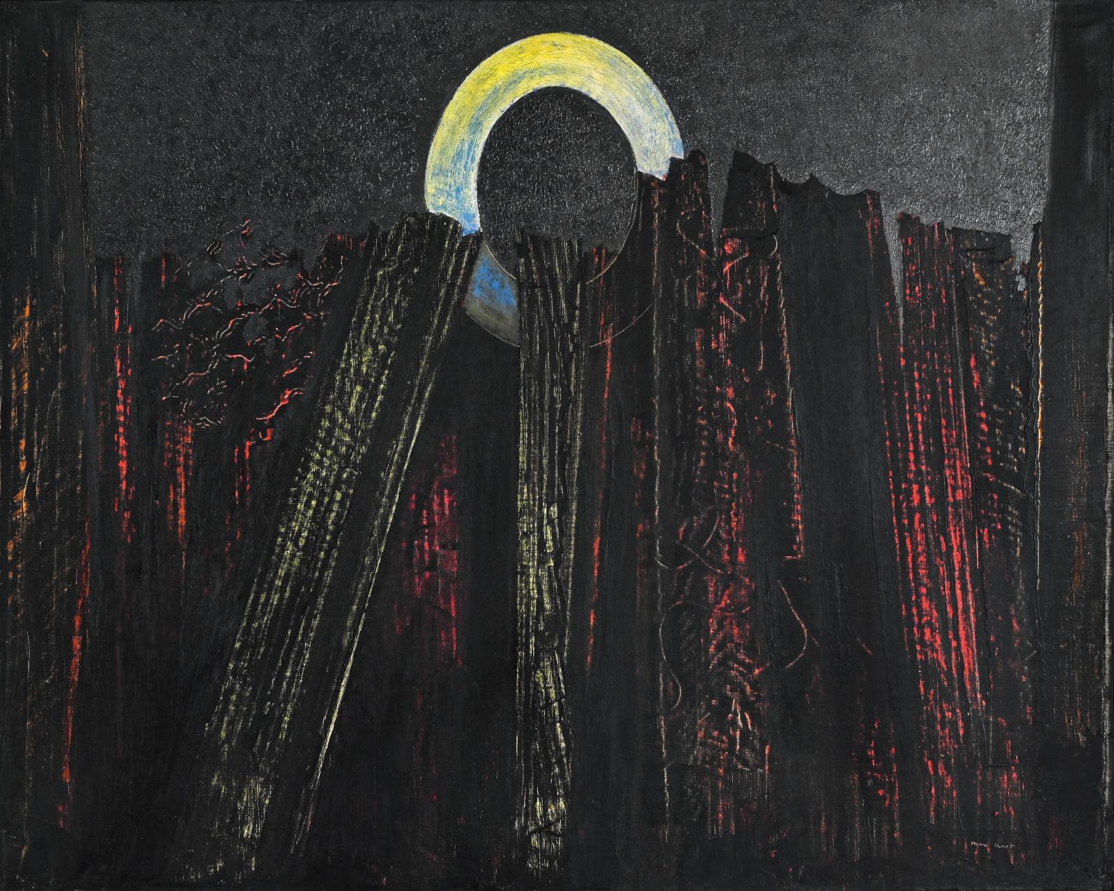 Max Ernst (1891-1976), Forêt, 1927, huile sur toile, 65x81cm. Paris, Drouot, 20 novembre 2020. De Baecque & Associés OVV. Adjugé: 134