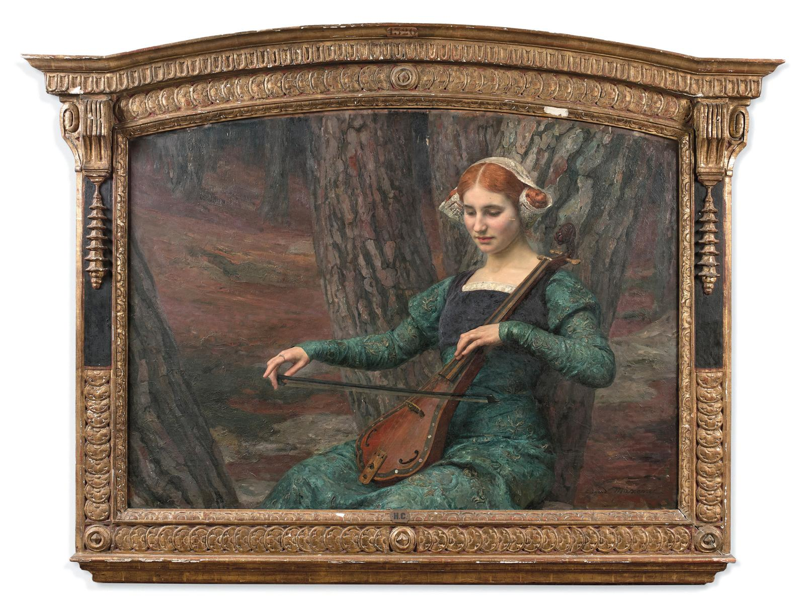 Edgard Maxence (1871-1954), Solitude, Peaceful Seclusion, huile sur panneau, 110x145cm, Paris, 15 décembre 2020. Millon OVV. MmeRitzen