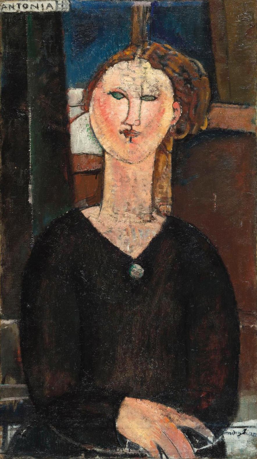 Antonia, c. 1915, oil on canvas, 82 x 46 cm/32.3 x 18.1 in. Musée de l'Orangerie.RMN-Grand Palais (Musée de l'Orangerie)/Hervé Lewandowski