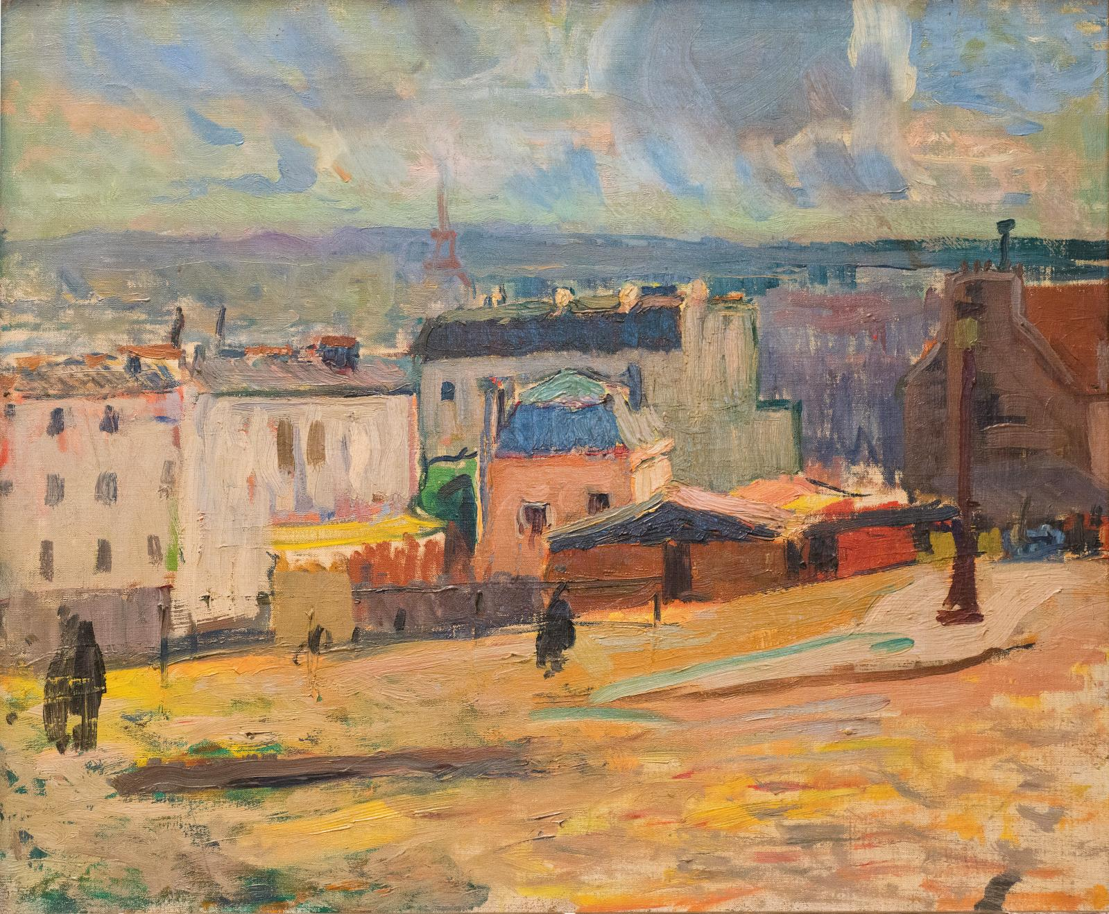 Raoul Dufy, Vue de Paris depuis Montmartre, 1902, huile sur toile, 45 x 55 cm (détail), collection particulière.