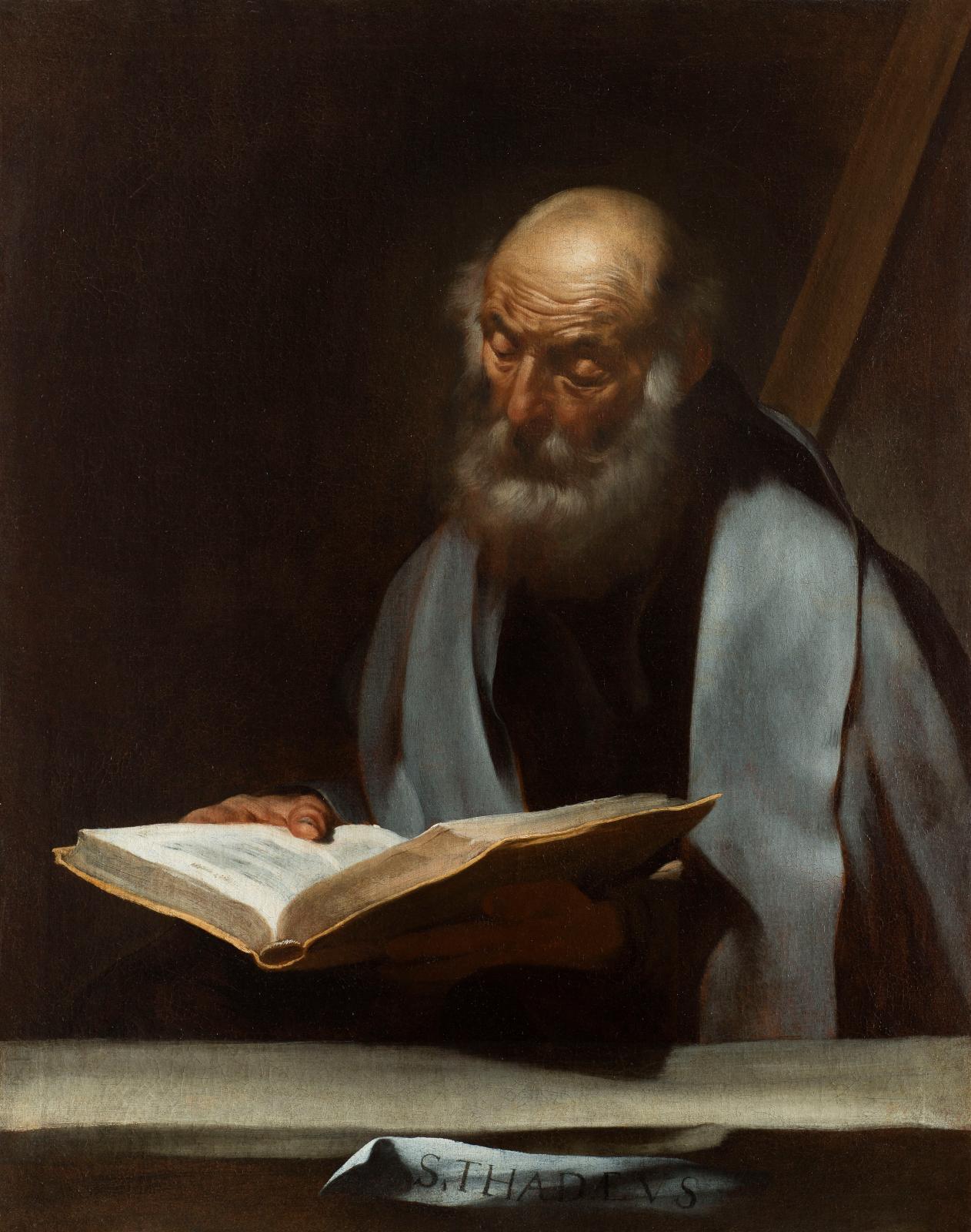 José de Ribera, Saint Matthieu, huile sur toile, 109 x 88 cm, Rennes, musée des beaux-arts.