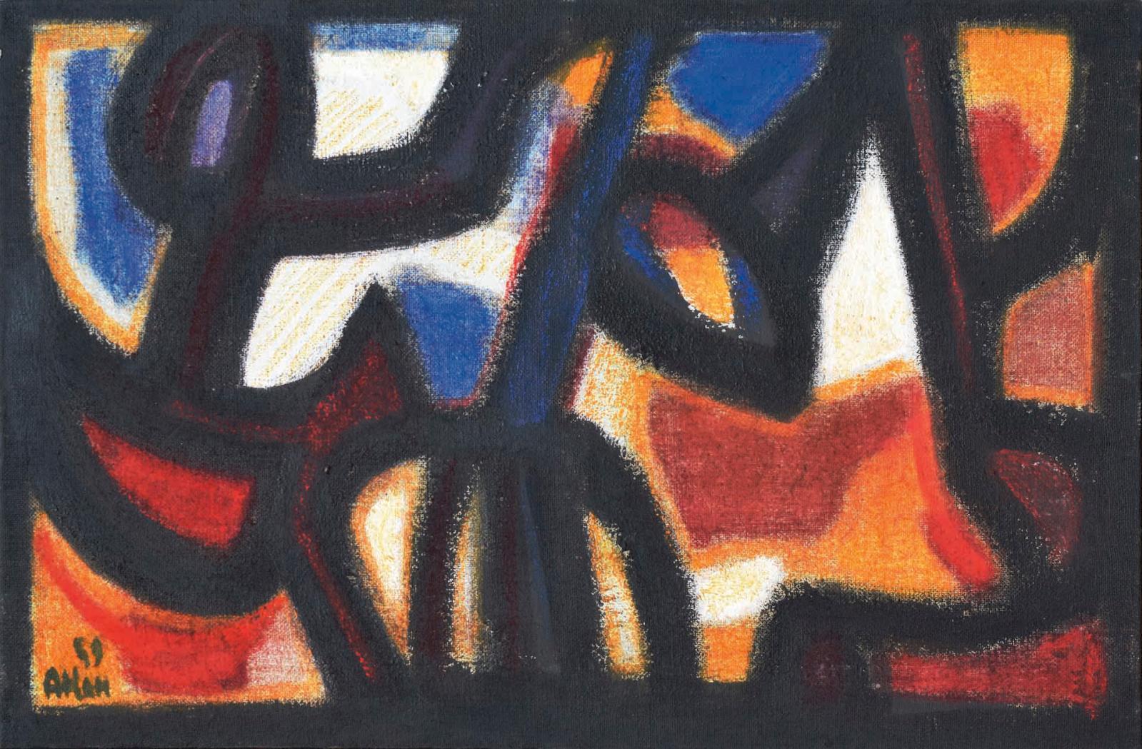 Jean-Michel Atlan, Sans titre, 1959. Galerie des Modernes.