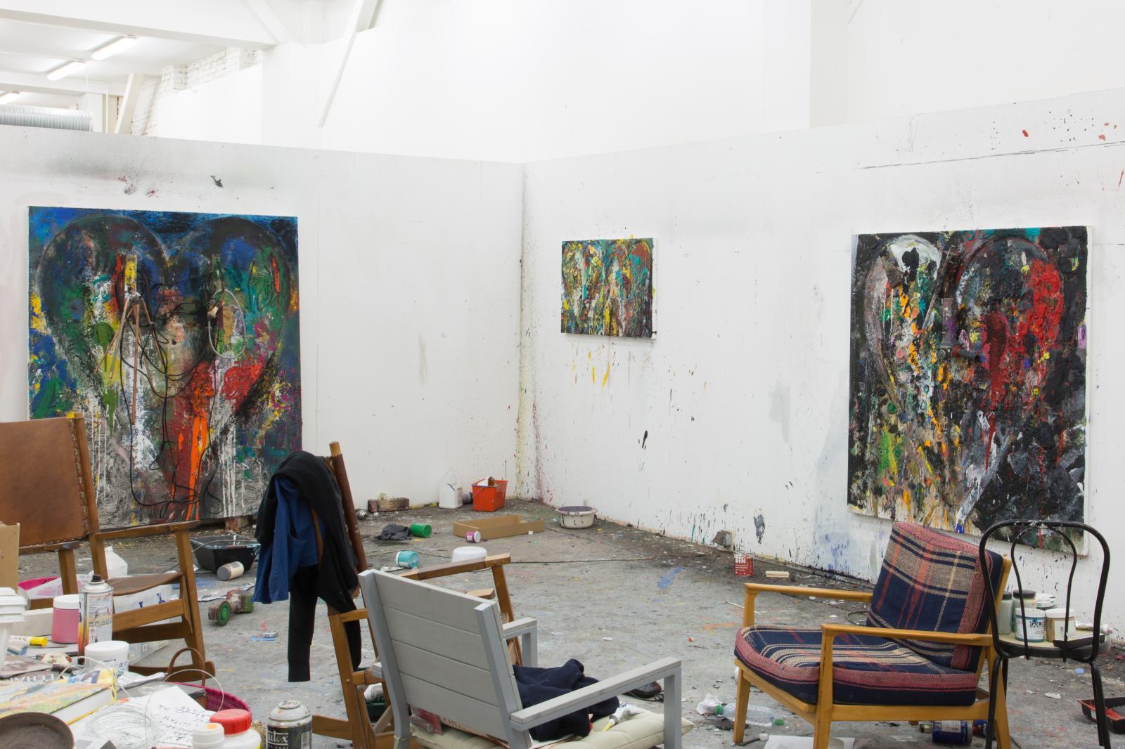 Vues de l'atelier de Montrouge.