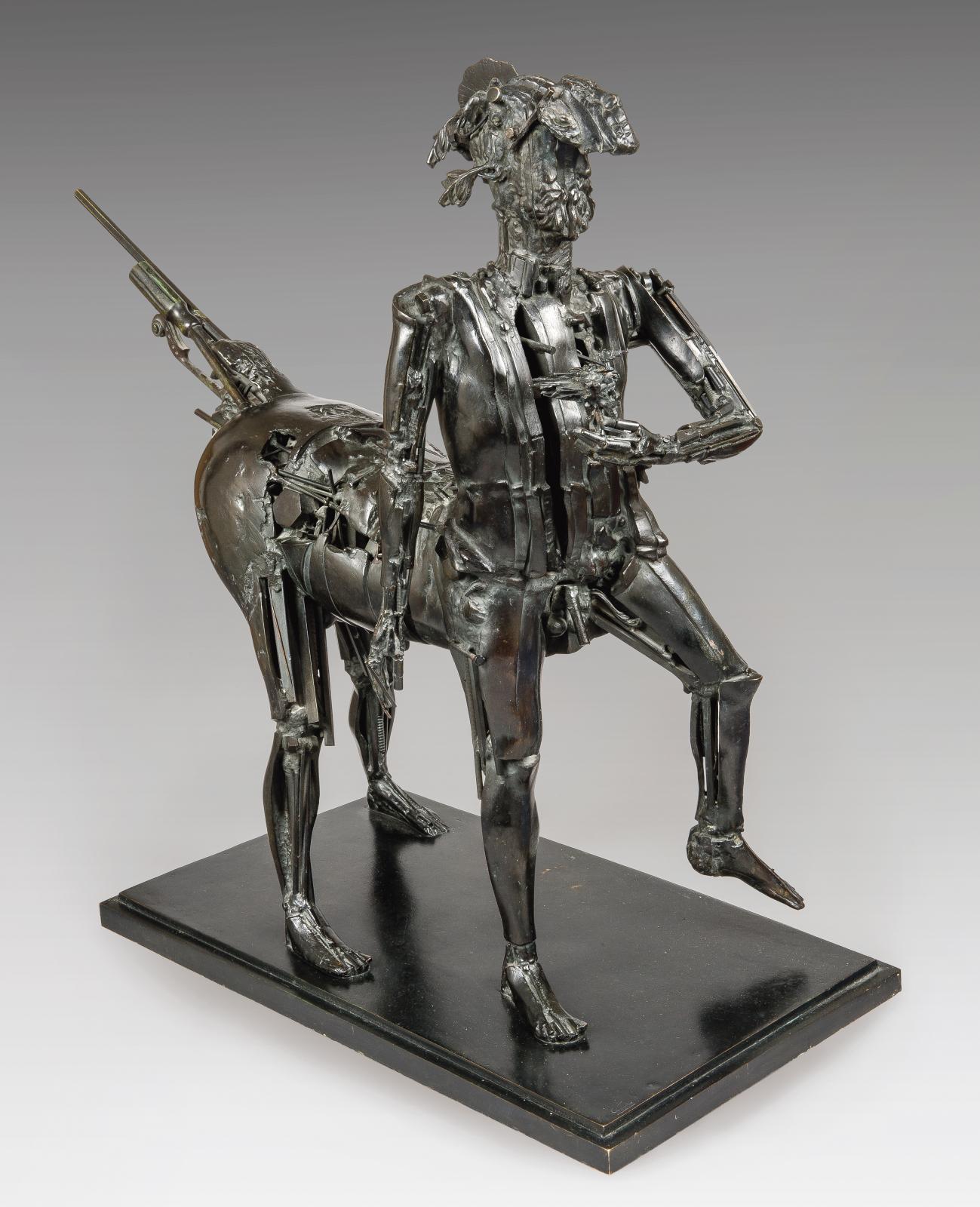 César (1921-1998), Le Centaure (Hommage à Picasso), 1983-1987, bronze soudé, numéroté 5/8, Bocquel fondeur, 101x105x48,5cm. Paris, Drouot, 24 nov
