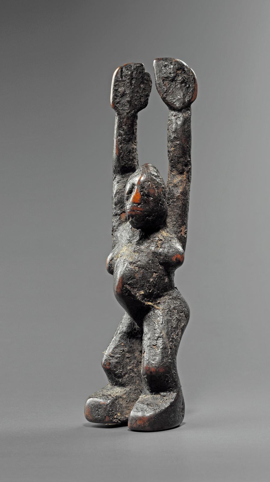 Burkina Faso, Lobi Buthib statuette, dagara-lobr style, wood, h. 17 cm.Estimate: €20,000/30,000.