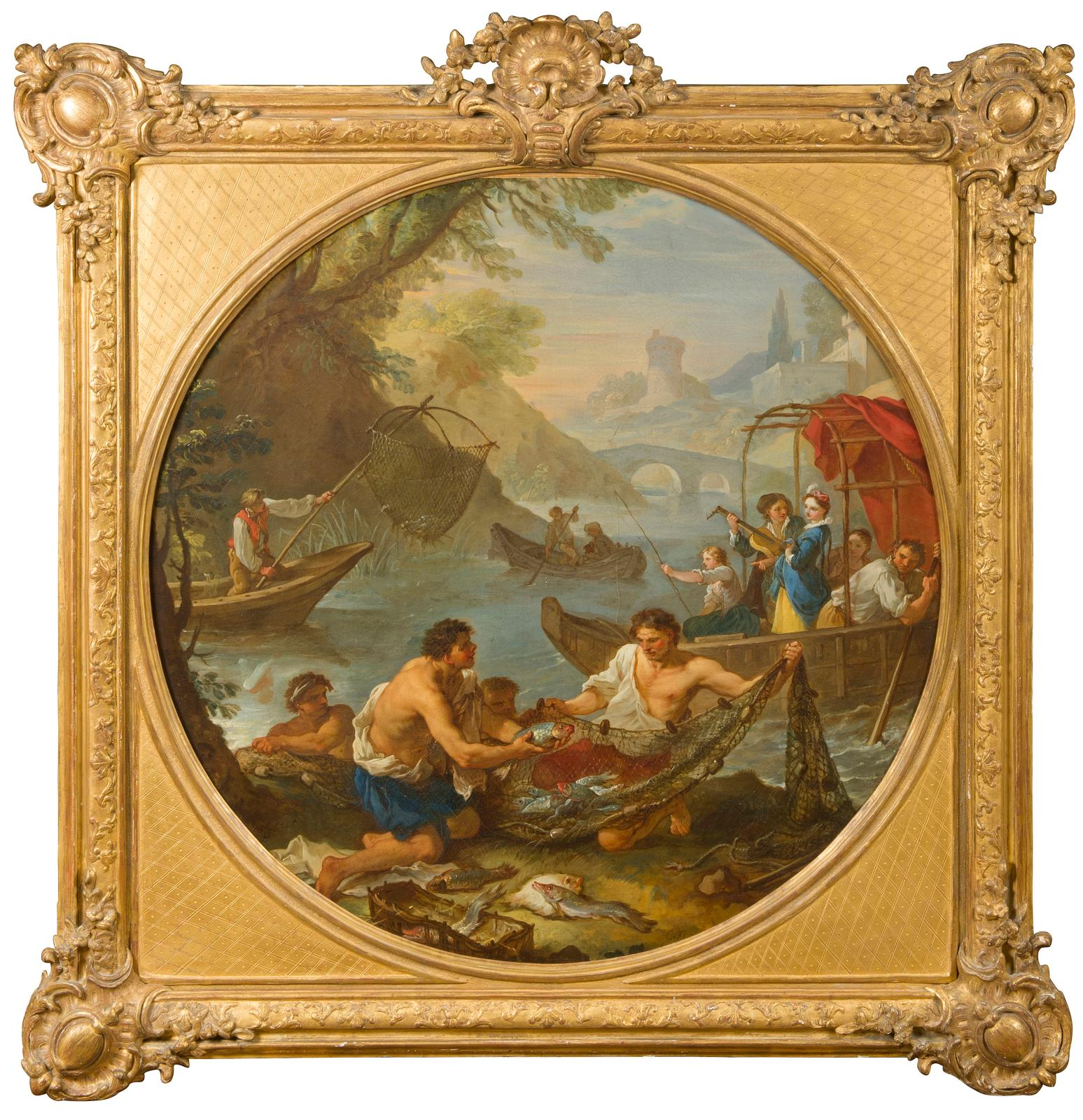 "€164,320 Charles Joseph Natoire (1700-1777), ""La Pêche"",oil on canvas, 89 x 94 cm."