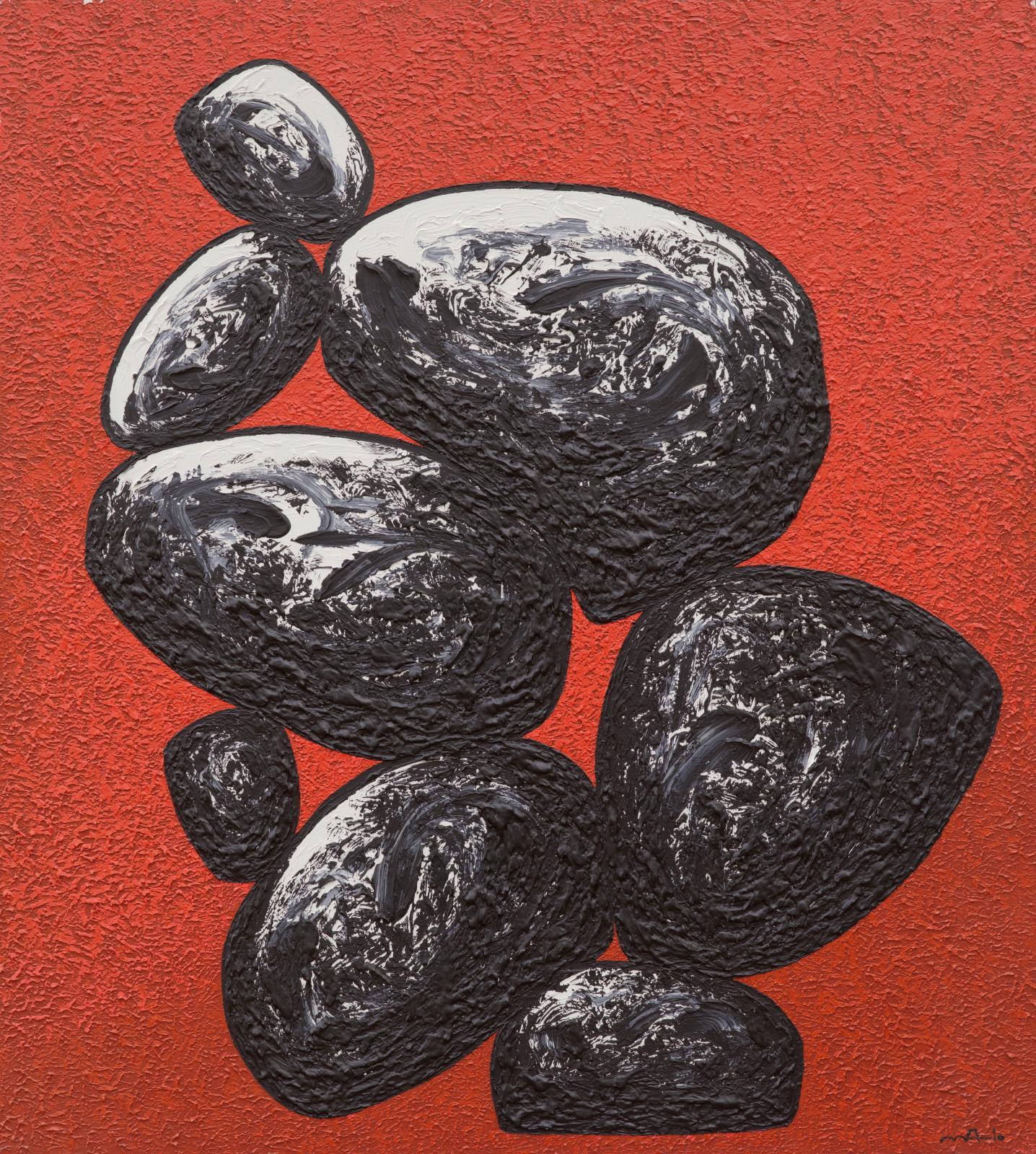 Sans titre, 2010, acrylique sur toile, 200x180cm.