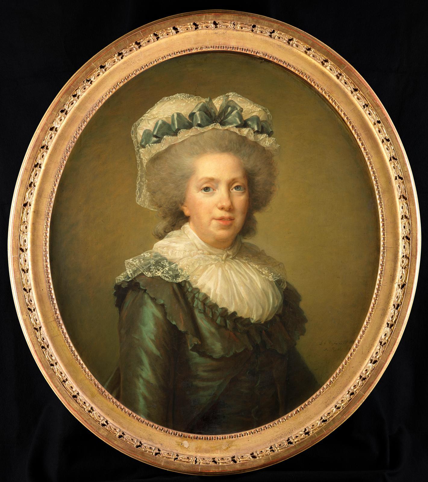 Élisabeth Vigée Le Brun, Portrait de Madame Adélaïde, 1792, huile sur toile, 59 x 72 cm.