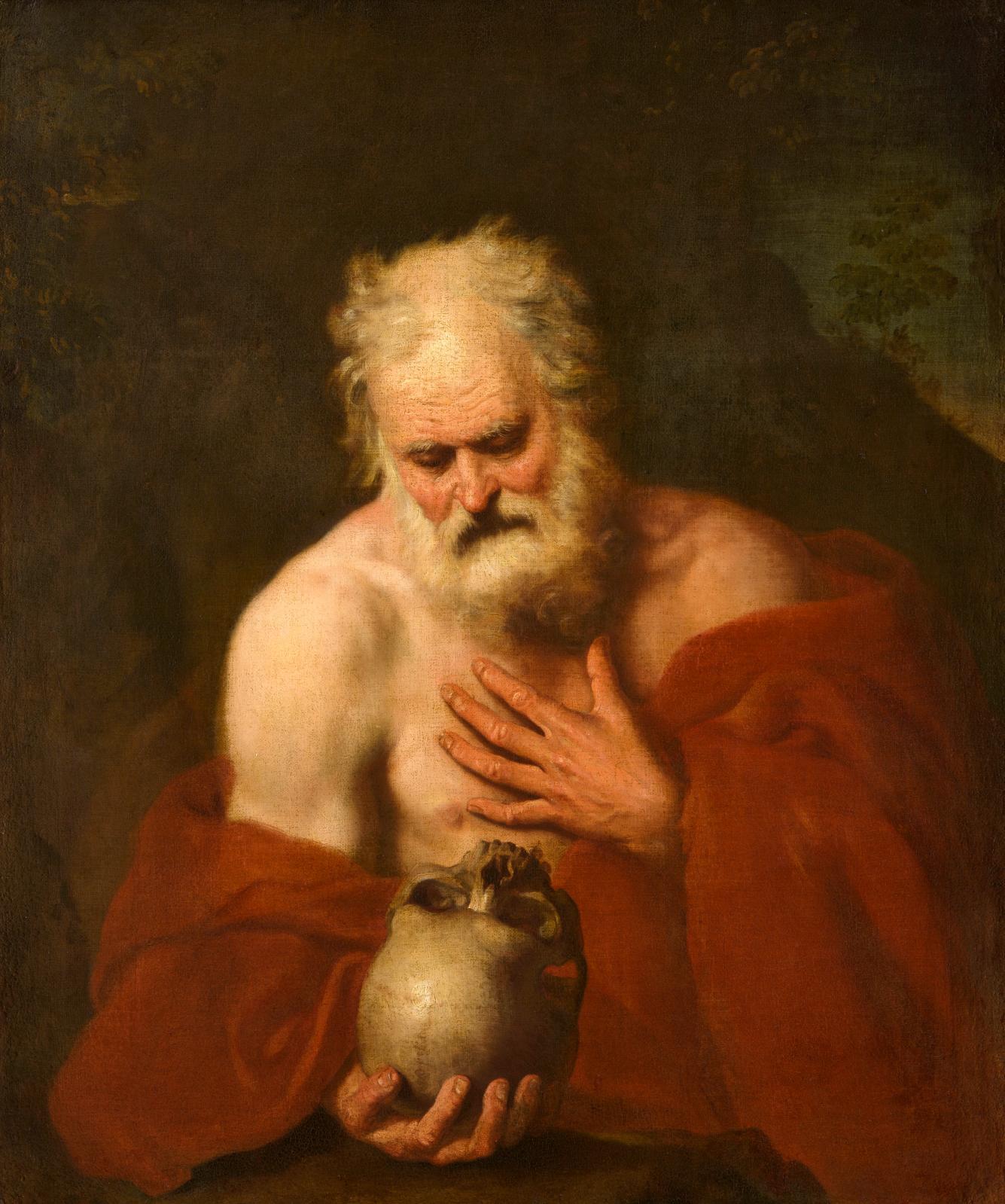 Joseph-Marie Vien, Saint Jérôme huile sur toile, 78,4 x 59 cm.