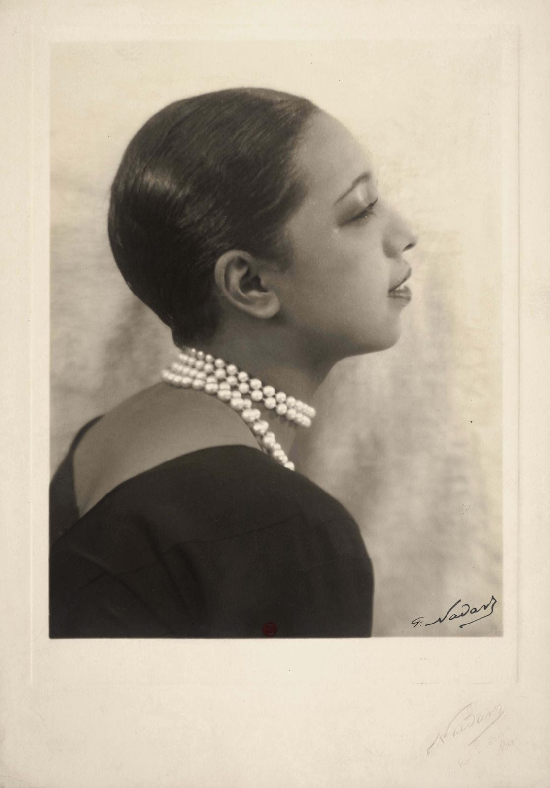 "Paul Nadar (1856-1939), ""Josephine Baker"", c. 1930, BnF, Department of Prints and Photography."