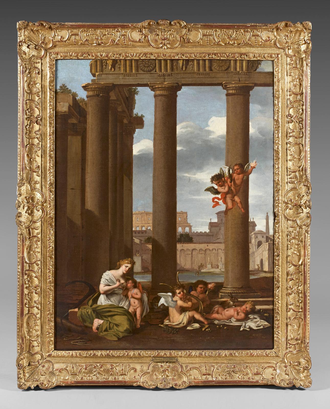 Thomas Blanchet (1614-1689), L'Amour nourri par l'Espérance, huile sur toile, 95,5x72,5cm. Paris, Drouot, 22 novembre 2013. Th. de Maigret OVV. M.