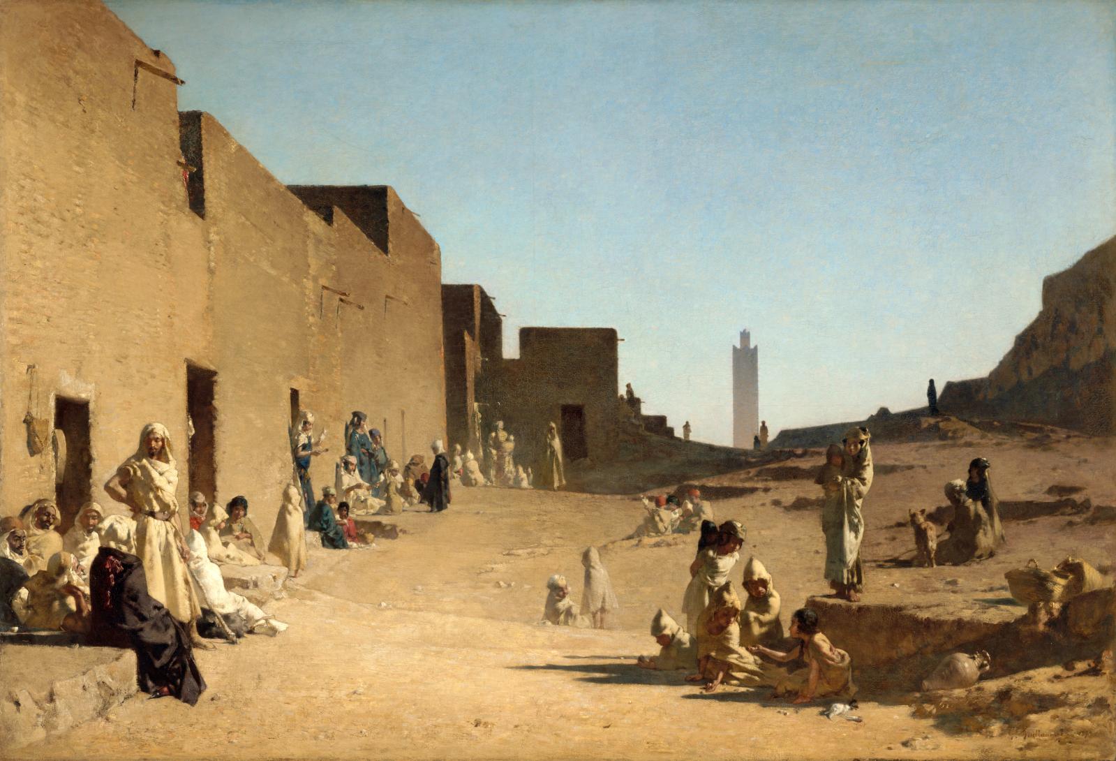 Gustave Guillaumet(1840-1887), Laghouat, Sahara algérien, 1879, huile sur toile, 123x180cm, musée d'Orsay.