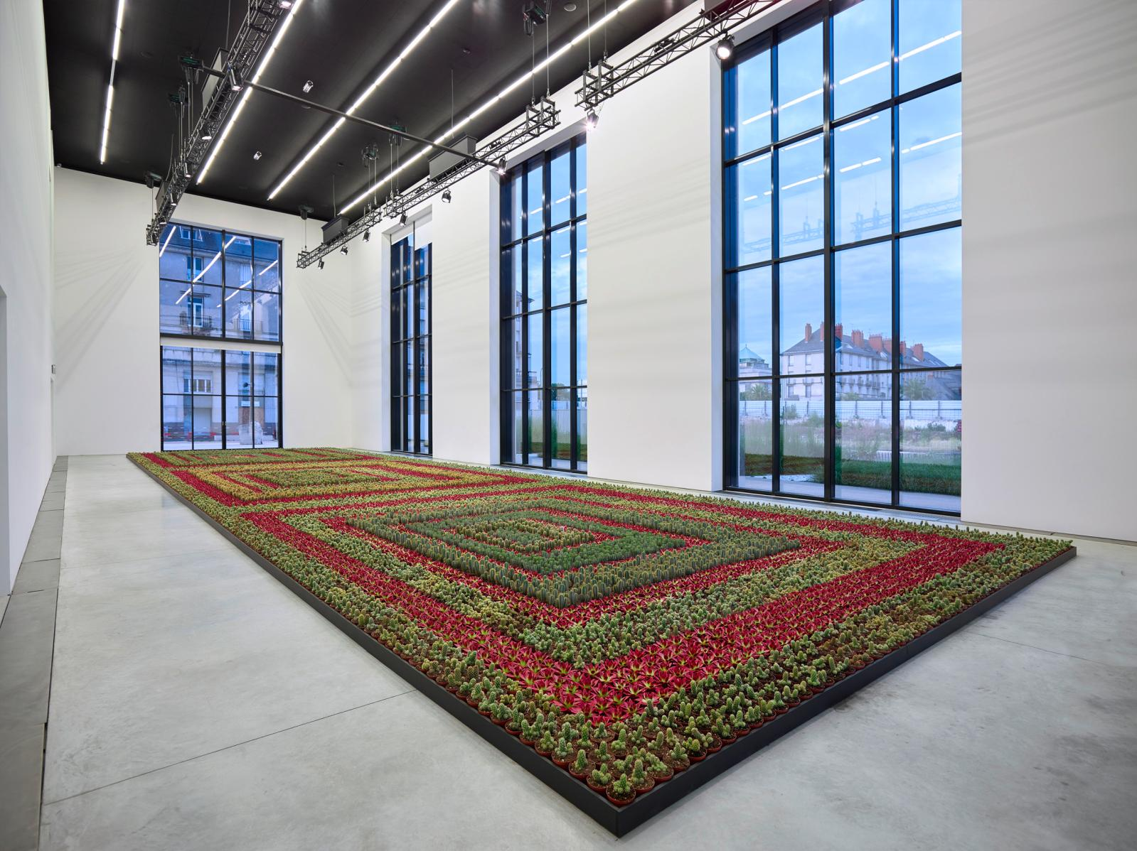 """View of the """"Cactus Painting"""" exhibition at the CCCOD, Tours, 2018."""