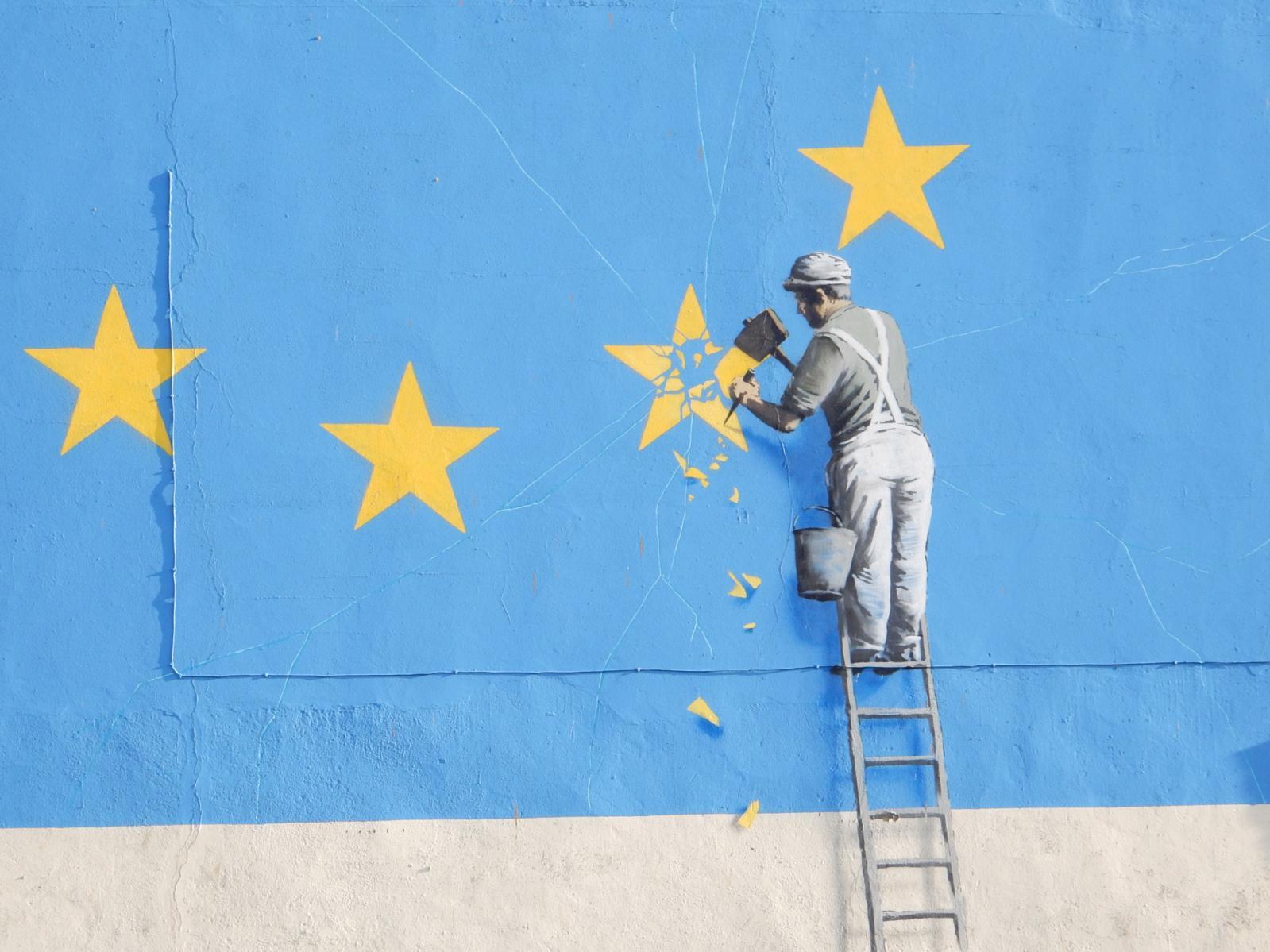 """""""Brexit"""", Banksy, 2017."""